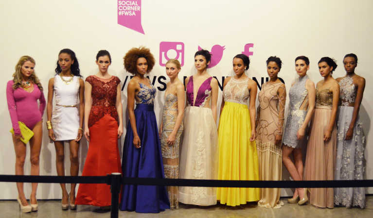 Swimwear, accessories, gowns: the looks of Bonita Brazil at San Antonio Fashion Week 2014.