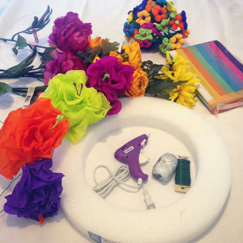 How-To: DIY Fiesta Wreath Materials You Will Need