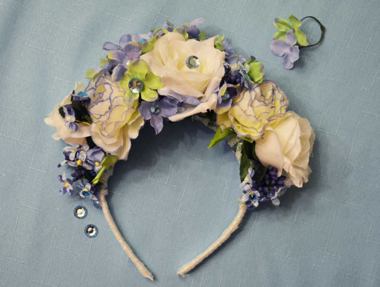 Frozen-Inspired Children's Floral Crown