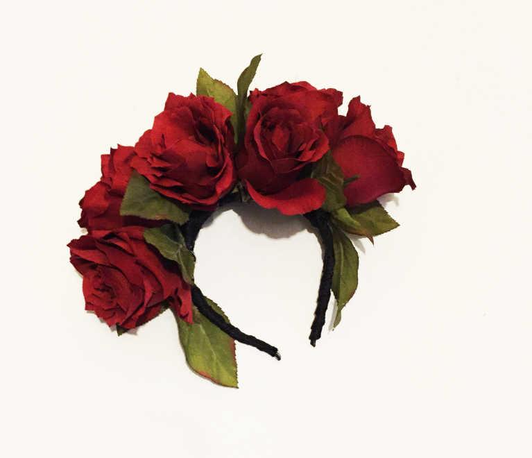 El Dia de los Muertos Catrina Inspired Floral Crown