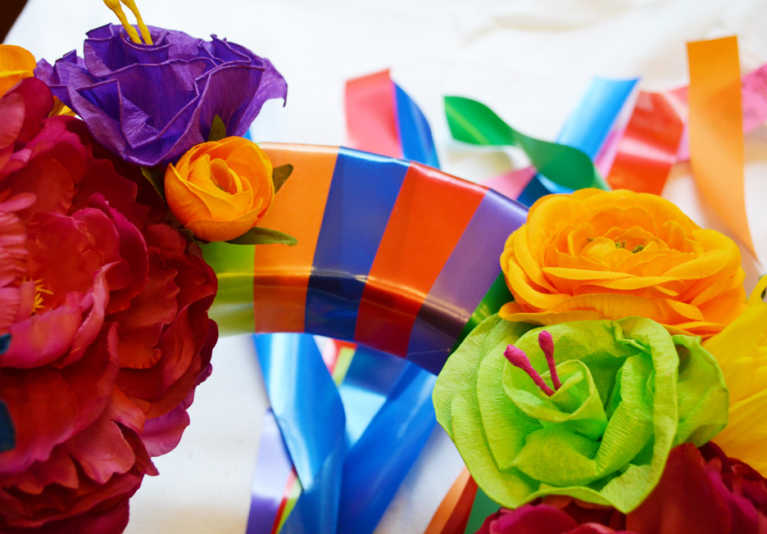 Quick and Easy Fiesta Wreath Tutorial